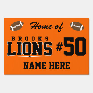 Brooks High School; Lions Yard Sign