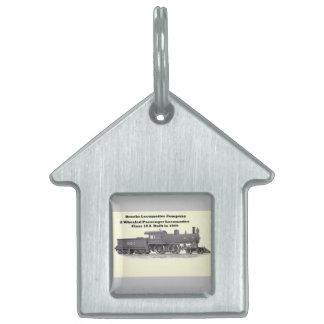 Brooks Locomotive Works #961 Pet Name Tag