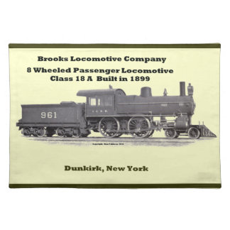 Brooks Locomotive Works #961 Placemats