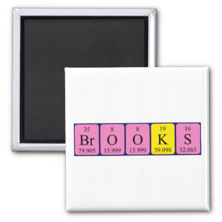 Brooks periodic table name magnet