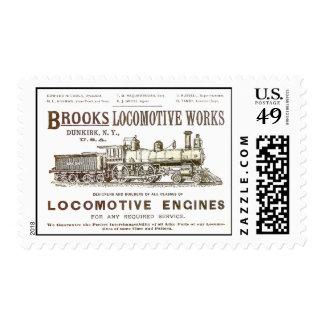 Brooks Railway Locomotive Works 1890 Poster Stamps