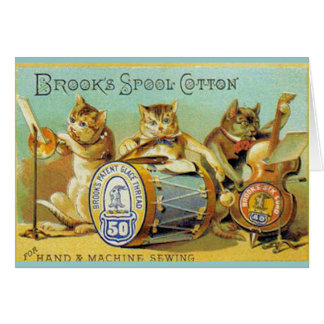 Brooks Spool Cotton Card