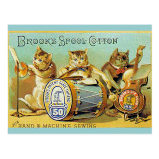 Brooks Spool Cotton Postcard