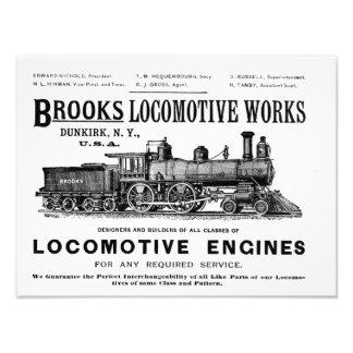 Brooks Steam Locomotive Works 1890 Kodak Photo Print