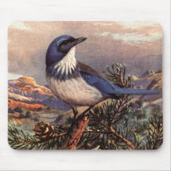 Mousepad with Brooks' Western Scrub-jay design