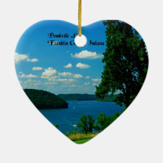 Brookville Lake, Franklin County Indiana Ceramic Ornament