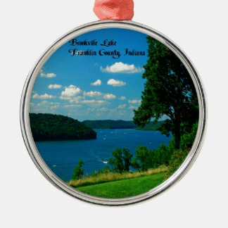 Brookville Lake, Franklin County Indiana Metal Ornament