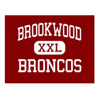 Brookwood - Broncos - High - Snellville Georgia Postcard
