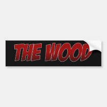 broncos,, the, wood,, brookwood,, football, Bumper Sticker with custom graphic design