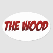 broncos,, the, wood,, brookwood,, football, Sticker with custom graphic design