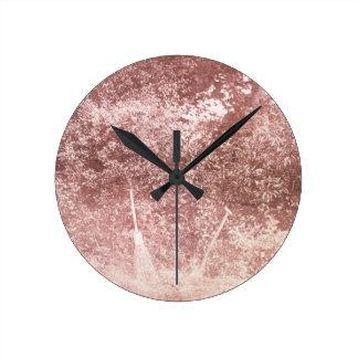 Broom and Spade, 1842 (b/w photo) Round Clock