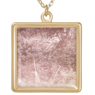 Broom and Spade, 1842 (b/w photo) Square Pendant Necklace