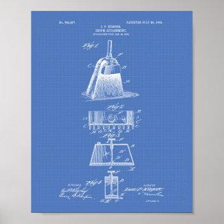 Broom Attachment 1903 Patent Art Blueprint Poster