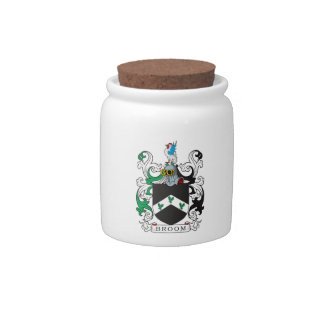 Broom Family Crest Candy Dishes