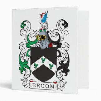 Broom Family Crest Vinyl Binder