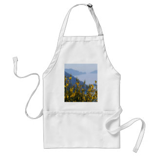 Broom on Cinque Terre coast Adult Apron