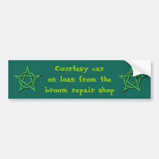 Broom Repair Shop Courtesy Car Witch Driver Bumper Sticker