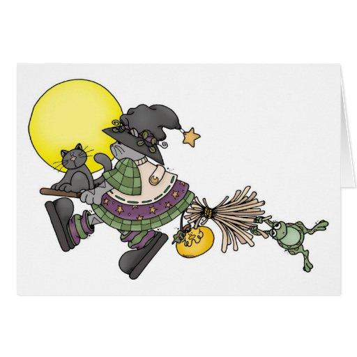 Broom Ride - Halloween Card