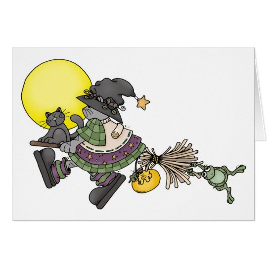 Broom Ride - Halloween Card