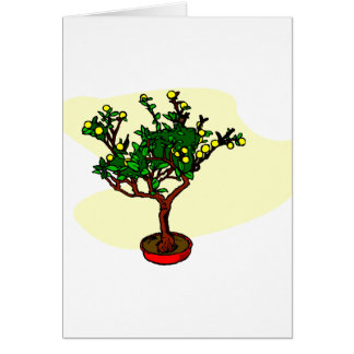 Broom style flowering bonsai graphic card