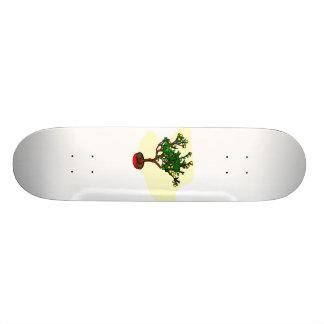 Broom style flowering bonsai graphic skate decks