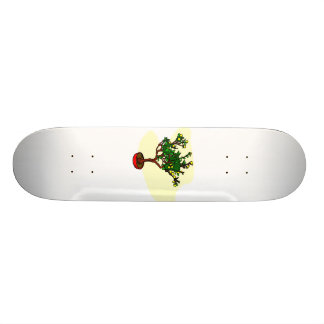 Broom style flowering bonsai graphic skateboard deck