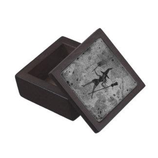 Broom Witch Texture Premium Trinket Box