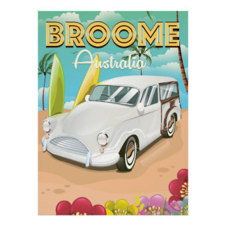 Broome Australia vintage travel poster