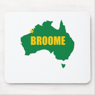 Broome Green and Gold Map Mouse Pads