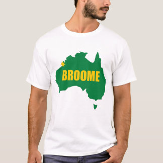 Broome Green and Gold Map T-Shirt