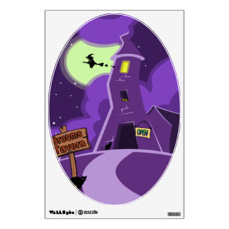 Brooms Tavern is open all night witches Wall Sticker