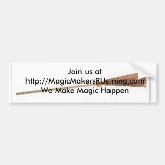 BroomSm, se une a nos en http://MagicMakersRUs.nin Etiqueta De Parachoque