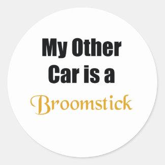 Broomstick Classic Round Sticker