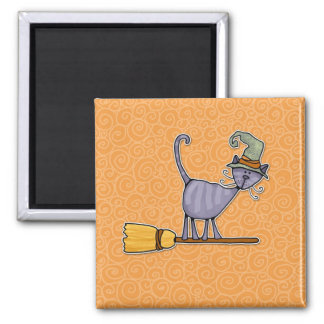 broomstick kitty magnets