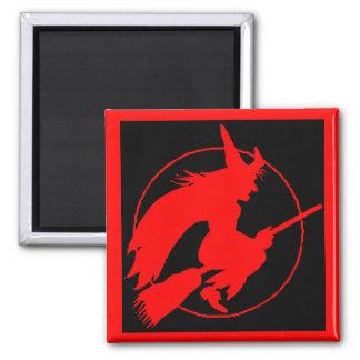 broomstick mafia badge of honor 2 inch square magnet