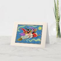 Broomstick Mice Halloween Greetings Card Card