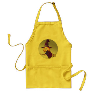 Broomstick Witch Aprons