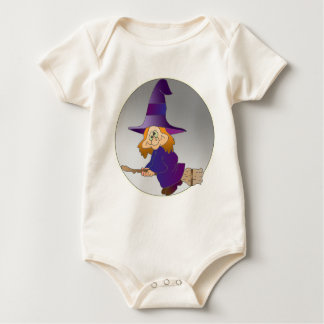 Broomstick Witch Baby Bodysuit