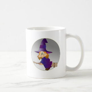 Broomstick Witch Coffee Mugs