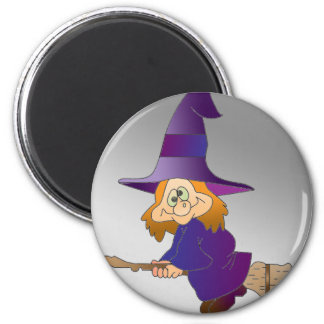 Broomstick Witch Magnet