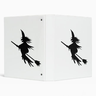 Broomstick Witch Silhouette Binder