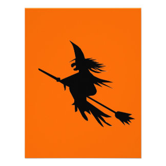 Broomstick Witch Silhouette Custom Announcement
