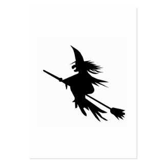 Broomstick Witch Silhouette Large Business Cards (Pack Of 100)