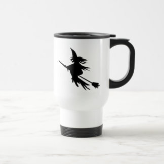Broomstick Witch Silhouette Travel Mug