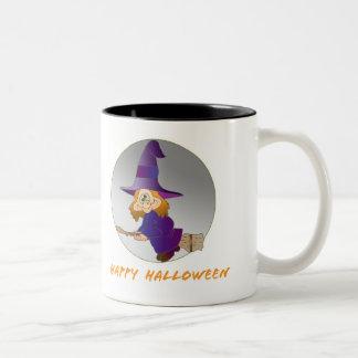 Broomstick Witch Two-Tone Coffee Mug