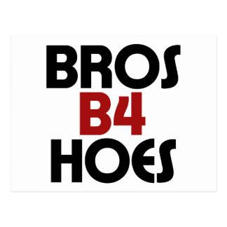 Bros B4 Hoes Postcard