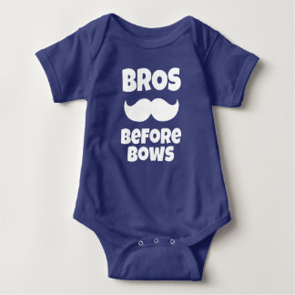Bros Before Bows funny baby boy shirt