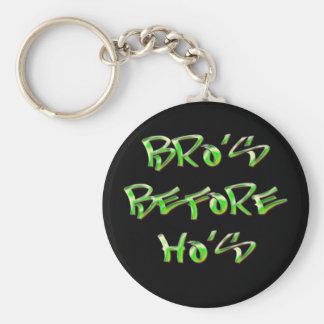 Bro's Before Ho's Keychain