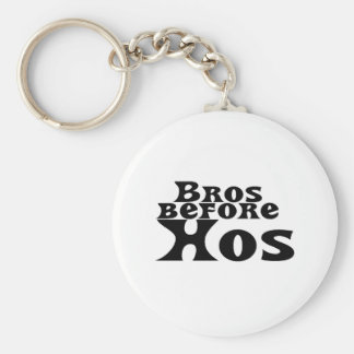 Bros Before Hos Keychain
