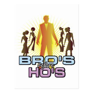 Bro's Before Ho's Postcard